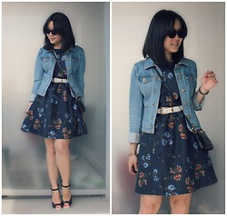 Kristania Petra - H&M Denim Jacket, Oasap Floral Dress, Vintage Belt, Nina Ricci Vinatge Purse, Aldo High Heeled Sandals - Bring It Back Right To Me