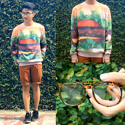 Bryan Laroza - Pushthru Sweater, Tank Shorts, Bazaar Specs - Sweater than Ever