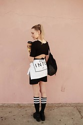 Martina M. - R/H Dress, Monki Sweatshirt, American Apparel Socks - L.A Throwback