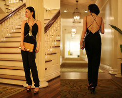 Honey Fay - Cameo The Label Jumpsuit, Michael Kors Clutch, Steve Madden Heels - The Classic Bareback - www.honeyfay.com