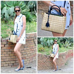 Fabrizia Spinelli - Kenzo Sunglasses, Romwe Dress, Fendi Bag, La Fabbrica Delle Ballerine Flats - Eyes on me