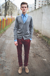 Denis Fleim - Bershka Cardigan, Topman Pants, Mark And Spencer Shirt, Shoes - A MILLION LITTLE PIECES