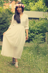 Christine Dior (Discover Fashion Author) - Sammy Dress Bohemian Style White - White: Bohemian Princess ;)