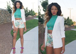 """Slim"" Shay D - Forever 21 Blazer, Forever 21 Floral Shorts, Shoe Cult Rapture Heels - Remember You"