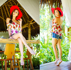 Kryz Uy - Binky Doodles Top, Guess? Shorts - Mandala