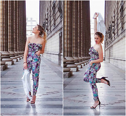 Pauline Gandolfini - Forever 21 Jumpsuit, Zara Shoes - Tropical jumpsuit
