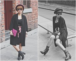 Catty Hang - Topshop Duster Coat, H&M Hat - A Red Wine Taste