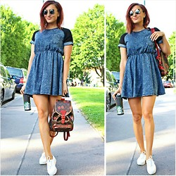 Ana Maria Oprea - Sheinside Denim, Louis Vuitton Backpack, Keds Comfy - It was such a mellow,mellow,mellow,mellow day