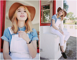 Typhaine - Topshop Hat, Topshop Overalls, Topshop Shoes, Topman Shirt - Summer in Topshop (1)