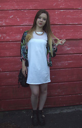 Jade Anne - Missguided Dress, H&M Shirt, New Look Boots - Can't you taste this gold?