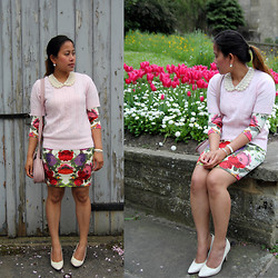 MyStyleStories X - H&M Floral, New Look Collar - Smart-Casual