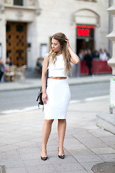 Alexa Dagmar - Topshop Crop Top, Zara Skirt, 3.1 Phillip Lim Bag, Jimmy Choo Pumps - All White Everything