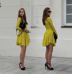 Karolina Sabała -  - Yellow lace dress