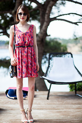 Ella Catliff - Juicy Couture Dress, Kate Spade Glasses, Aldo Bag, Pollini Shoes - Sundress Styling