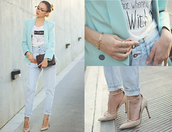 Bea G - Blazer, T Shirt, Jeans, Shoes, Bag - BAD INTENSIONS