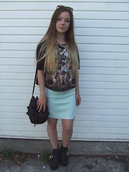 Jade Anne - River Island Top, Missguided Skirt, New Look Boots - Naked Babies