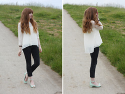 Rebekah D - Therapy Shirt, Dorothy Perkins Shoes - Mint Green.