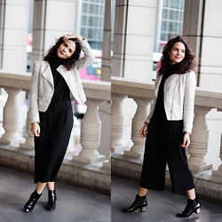 Jasmin - H&M Jacket, Asos Top, Mango Culottes, Zara Boots - Better Late Than Never