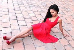 Toni Khumalo - Toni! Clothing Red Dress, Aldo Red Heels - Yeah, U Bleed Just To Know U Are Alive!