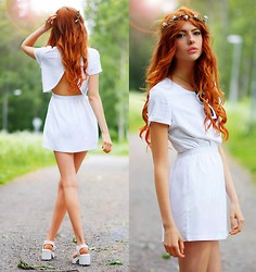 Ebba Zingmark - Ivyrevel Dress, K Is For Kani Head Piece, Rapunzel Of Sweden Clip On Hair, Vagabond Shoes - I want to show you something