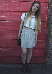 Jade Anne - Topshop Top, Topshop Skirt, New Look Shoes - These nights never seem to go to plan