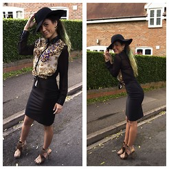 Kriste Mima - Topshop Hat, Diesel High Heels, Warehouse Skirt, Boohoo Top - Madame badass