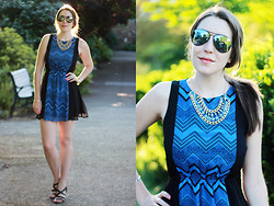 Kelsey W - Moddeals Chain Reaction Necklace, Franco Sarto Heels, Moddeals Dress - Fear of the Unknown
