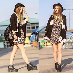 Agata P - Stylemoi Kimono, Floral Dress, Boots, H&M Hat, Primark Backpack - You Know You Got It,, If It Makes You Feel Good.