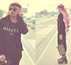 Butch Cervantes - Mango Pullover, Bershka Skinny Pants, Topshop Studded Pouch - Call me Arabsian!!!