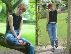 Ellie H - All Saints Top, Urban Outfitters Jeans - Light Before Dark