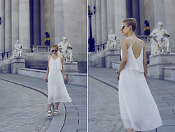 Borjana R. - Sheinside Dress - White maxi dress