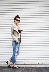 Trang Huyen - Toms Margeaux Frames, Forever 21 Bralette, H&M Ripped Jeans, 3.1 Phillip Lim Patent Flats, Bcbg Leather Jacket - The Beat Goes On and On..