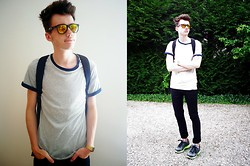 Martin Dumont - H&M Tee, Casio Watch, Nike Sneakers, River Island Bag - 24.06.2014