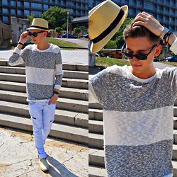 StreetFashion101 - New Yorker Sweater, Zara Jeans, H&M Hat - Too Relaxed