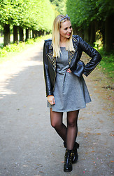 Maike L. - Zara Leatherjacket - Smile, it's your day