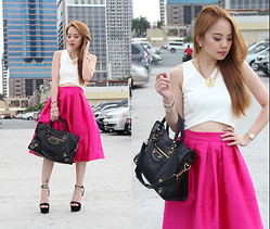 Stephanie D - Pinkaholic Fashion Shoppe Cropped Top, Pinkaholic Fashion Shoppe Bouffant Skirt - Pink Swoon