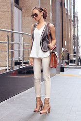 Rita Galkina - Brunello Cucinelli Shoes, Bcbg Bag, Zara Top - June