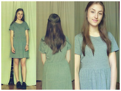 Amélia T. - Forever 21 Babydoll Dress, Demonia Creepers - Surprise!