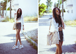 Sofia Reis - Abhair Hair Extensions, Chic Wish Kimono, Lovelybreeze Sunnies, H&M Shorts, Lamoda Bag, Chic Wish Sandals - SWEET LACE