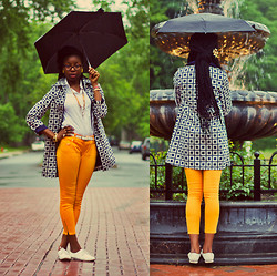 Stephanie Ukpere - Talbots Geo Print Trench - Saved for A Rainy Day: Geo-Print Trench
