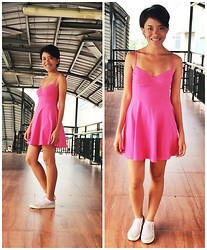 Joanna Yap - Forever 21 Corset Dress - Pink & Tan lines
