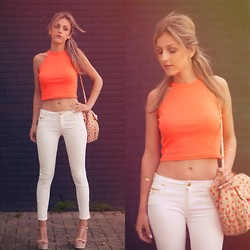 Anna Belle - River Island Top, Mango Wedges - Match day of Holland