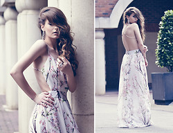 Denisia A. - Sheinside Floral Dress - My Modern Fairytale