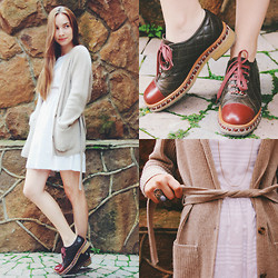Maria Matvie - Zara Dress, Chanel Shoes, Loro Piana Jamper, Accessories Ring - Cozy summer