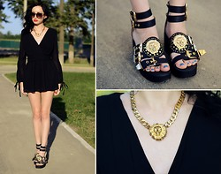 Kary Read♥ - Chic Wish Playsuit, Chic Wish Sandals - Leo)