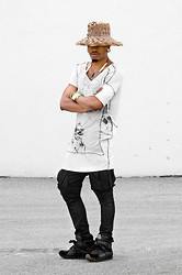 Marcus Branch - Self Made Drop Shoulder Mosaic Tee, Kill City Wax Denim, Bernhard Willhelm Himilayan - Shed.
