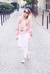 Katia - Lazy Kat - Asos Sunglasses, Wildfox Couture Sweater, Topshop Ripped Jeans, Superga Sneakers - I scream for Ice cream