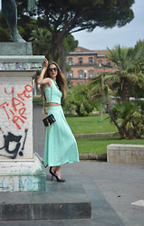 Fabrizia Spinelli - Kenzo Sunglasses, Milanoo Top, Milanoo Skirt, Saint Laurent Bag - Mintaholic