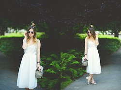 Monica Barleycorn - Marks And Spencer Dress, Marks & Spencer Bag, Oasis Sandals - White Out