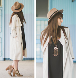 Maddy C - H&M Coat, Chic Wish Dress - Beginning of July